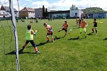 Fotbalová zábava v Hostomicích.