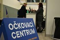 Očkovací centrum ve Sportaréně na Stínadlech v Teplicích. Ilustrační foto.