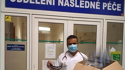 Lékař Mohammed Ghaleb v teplické nemocnici.