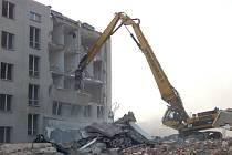 Demolice podniku Geoindustria v Proboštově