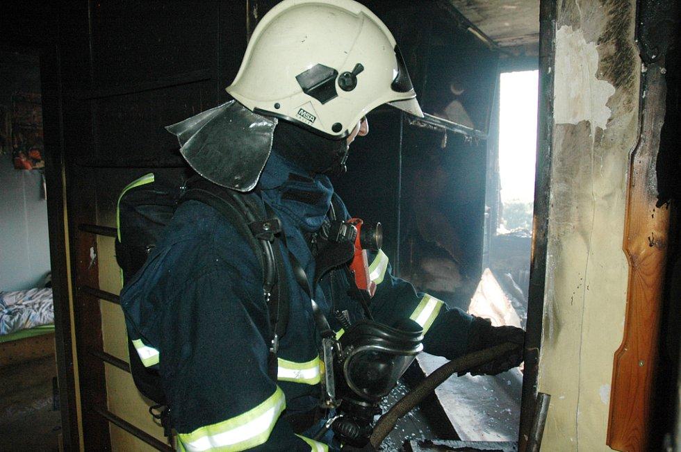 Požár bytu v Trnovanské ulici