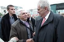 Prezident Miloš Zeman (vpravo). Ilustrační foto