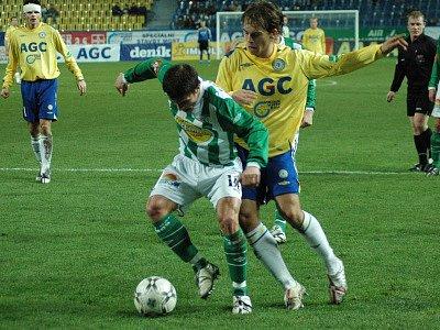 Z utkání FK Teplice a Bohemians