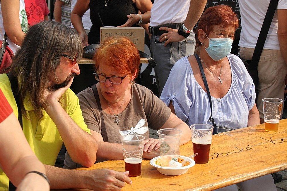 Festival Pivní rynek na Zámeckém náměstí v Teplicích