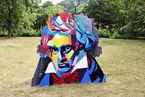 Vernisáž podobizen Beethovena v Lázeňském parku v Teplicích