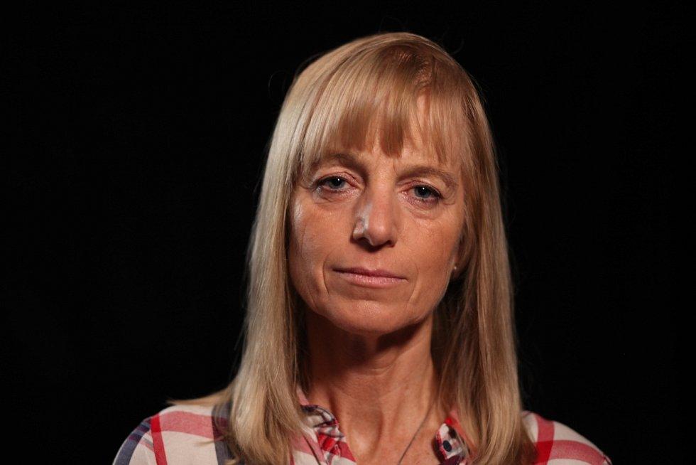 Jana Dvorská při natáčení pro Paměť národa v roce 2019