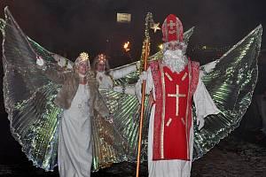 Rozsvícení vánočního stromku v Proseticích.