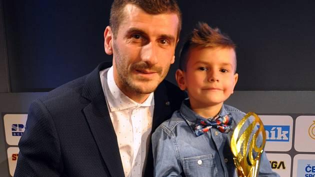 Admir Ljevaković se synem Makem