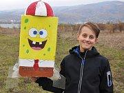 Loučení s letošní sezónou raketomodelářů, modelářská show na Srbickém pahorku. Do vzduchu létalo vše možné. Letěl i žlutý spongebob.