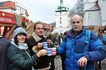 9. Vánoční trhy na Zámeckém náměstí pořádáné Lions Clubem Teplice