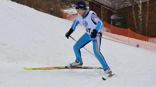 Fanda Láznička při sprintu
