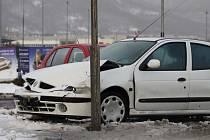 Nehoda u OC Olympia v Teplicích