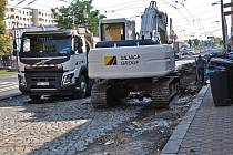 Rekonstrukce Masarykovy ulice v Trnovanech.