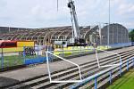 Stavba zimního stadionu v Teplicích je v plném proudu.