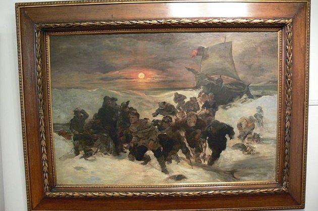 Originál obrazu, který je vRegionálním muzeu vTeplicích.