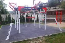 Workoutové hřiště na Kyselce.