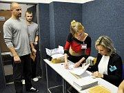 Volby ve Vazební věznice v Teplicích.