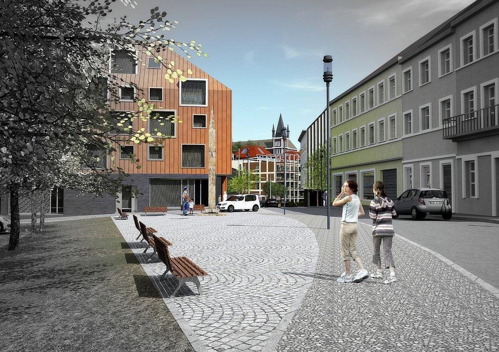 Vize, jak by mohla jednou vypadat Mlýnská ulice v Teplicích.