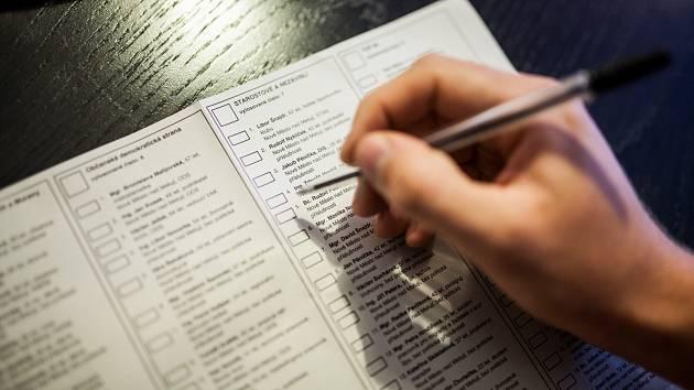 Ilustrační foto, hlasovací lístek.