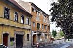 Ruina Českého domu v Duchcově.