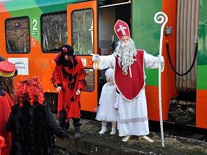 Mikulášský vlak.