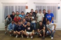 Fotbalisté Duchcova při rozlučce v červnu 2011.