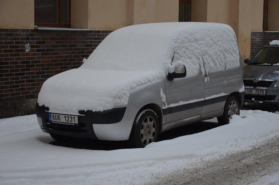 Sníh v Teplicích