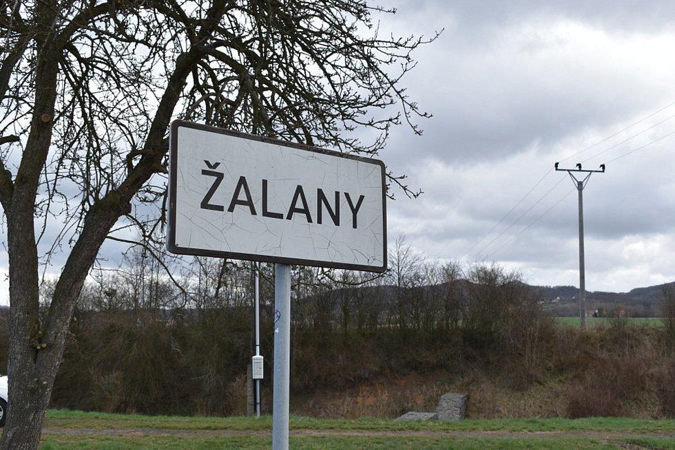 Obec Žalany.