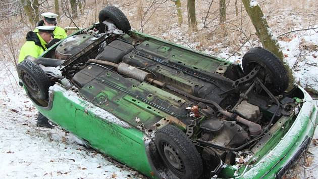 Nehoda u Pňoviček na Teplicku.