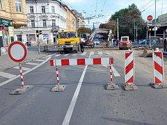Rekonstrukce kanalizace na křižovatce Lounské ulice v Teplicích