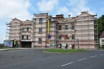 Rekonstrukce fasády, ZŠ Teplická, Krupka.