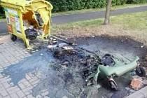Spálená popelnice