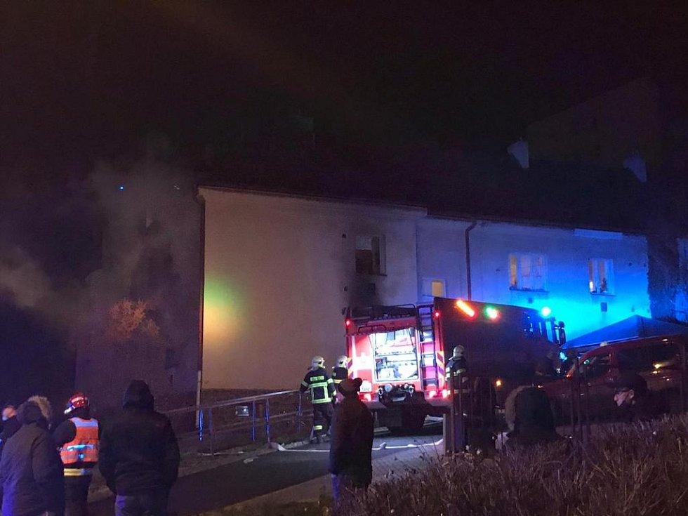 Požár domova pro seniory v Krupce