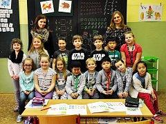 Na fotografii jsou žáci ze ZŠ Aléská Bílina, 1.C.