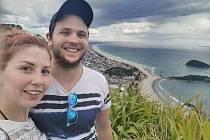 Pavel Váňa na Novém Zélandu se svou přítelkyní