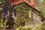 Historická fotografie Kolostujových věžiček Počátek 19. století