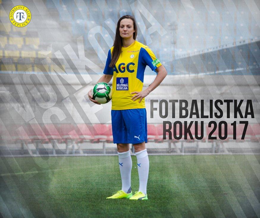 Lucie Voňková v dresu Teplic.