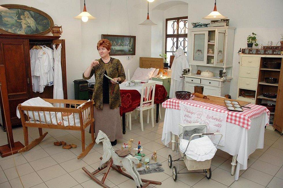 Výstava pokojů našich babiček v Oseku