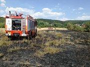 Celkem čtyřikrát vyjížděli hasiči z Proboštova k požáru louky u Přítkova.