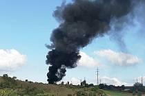 Hořelo v Malhosticích, černý kouř viděli lidé ze širokého okolí.