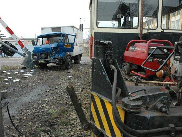 Nehoda na železničním přejezdu v Teplicích směr na Proboštov