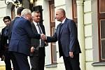 Prezident Zeman obědval ve středu v hotelu Prince de Ligne Teplice