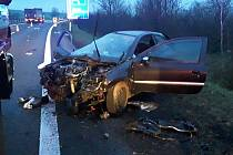 Dopravní nehoda u Bystřan.