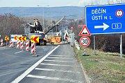 Začaly práce na rekonstrukci mostu na silnici I/8 nad ulicí Hřbitovní v Teplicích.
