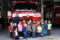 Den otevřených dveří v centrální požární stanici v Teplicích.