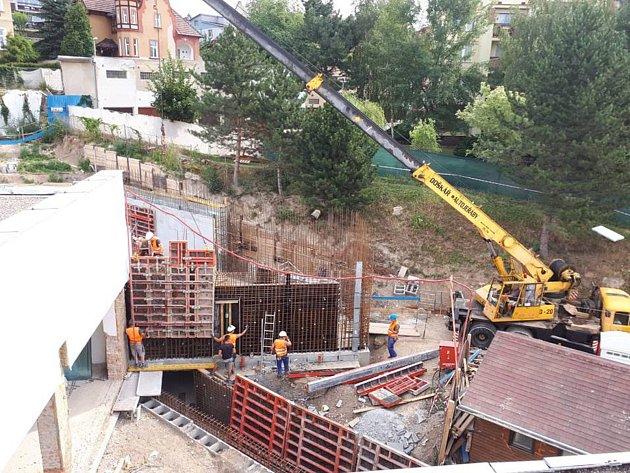 Rekonstrukce teplického Aquacentra, další fáze - červenec 2018