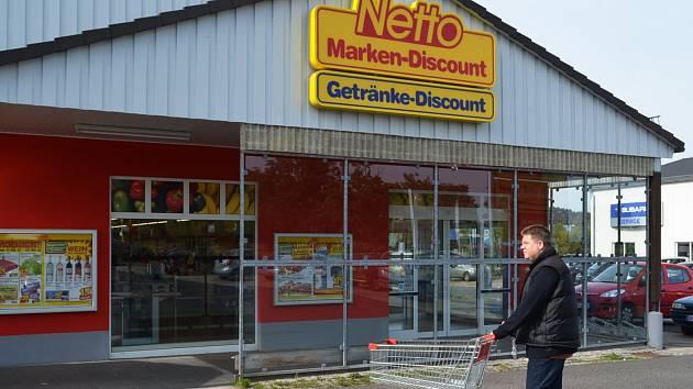 Supermarket Netto v Altenbergu.