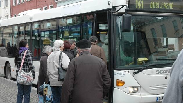 Autobus MHD v Teplicích