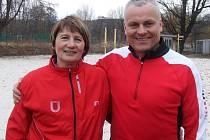 ALEXANDRA ADLEROVÁ s olympijským vítězem z Barcelony 1992 Robertem Změlíkem