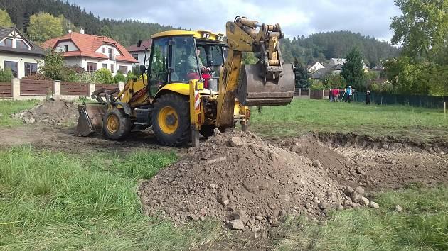 V Přítkově na Teplicku vzniká relaxační zóna pro děti i dospělé.